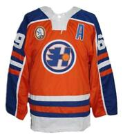 Custom Name # Halifax Highlanders Hockey Jersey New Orange Glatt Any Size