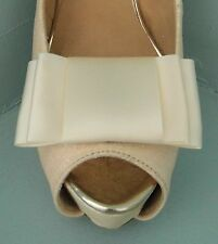 2 Ivory Large Satin Double Bow Clips for Shoes - other colours on request