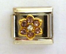 9mm Classic Size Italian Charms Birthstone Petal October Tourmaline