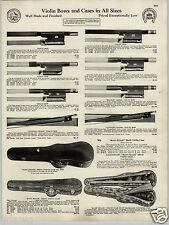 1930 PAPER AD Ernst Reinhold Schmidt Antonio Loveri Violin & Bow Bausch