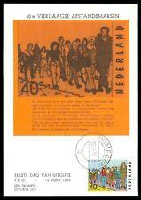 NL MK 1976 SPORT WANDERN NIMWEGEN MAXIMUMKARTE CARTE MAXIMUM CARD MC CM bb96