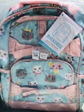 Pottery Barn Kids Princess Kitty Large Backpack No Mono Mackenzie Pink Aqua Cat