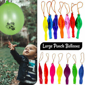 Large Punch Balloons Fun Kids Children Birthday Christmas Party Bag Fillers Toys