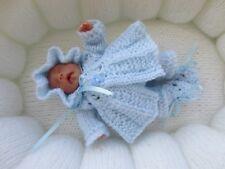 """Hand Knittd 4/5"""" Ooak Sculpt Baby Doll Set."""