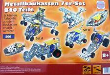 Metallbaukasten 7er Set 840 Teile tronico