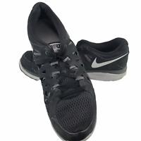 Nike Dual Fusion Run 2 Sz 9.5  Mens Running Shoes Black 599541-002