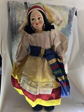 Vintage Antique? cloth doll Capri Made In Italy 9 Inches
