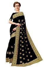 Indian Pakistani Latest Bollywood Party Wear Net And Full Embroidery Work Saree