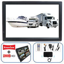 "Motorhome Caravan Boat 14"" Inch PORTABLE TV Freeview HD USB & SD PVR 12 V 240 V"