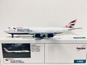 Herpa Wings British Airways World Cargo Boeing 747-8F 1:500 G-GSSD 523165