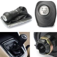 Silver 5 Speed Gear Shift Knob Cover Stick Lever Boot For VW Bora Golf MK4 Jetta