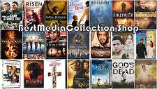 21 PK Risen, Fireproof, Son Of God, War Room, Gods Not Dead N More DVD BRAND NEW