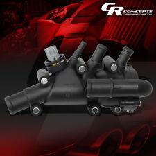 BLACK ENGINE COOLANT THERMOSTAT HOUSING W/TEMP SENSOR GASKET FOR 01-04 KA/FIESTA