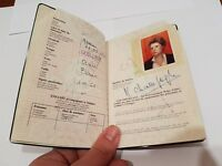 Belgian Travel Document 1983 - Green color - woman - With Tunisia Visa