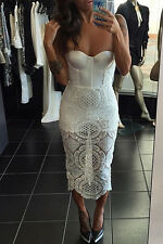 White lace Bandage Dress Club Wear Fashion Evening Wear Size M L