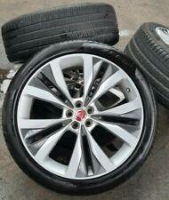 "GENUINE JAGUAR F-PACE ALLOYS HELIX  22"" INCH ALLOY WHEELS  TPMS + PZero Tyres 4X"