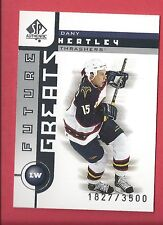 2001-02 SP Authentic SP All Time Greats /3500 Card 111 Dany Heatley