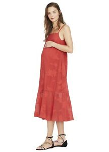 Hatch Maternity Women's THE PAOLA DRESS Red Size 1 (S/4-6) NEW