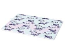 """IKEA Stunsig Porcelain Trivet Square Plate Birds Girl Blue Pink 6"""" X 8"""""""