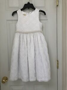 NWT American Princess Dress White Lace Pearls Sz 6X Spring Holiday 1st Communion
