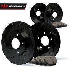 2003 2004 2005 Acura TSX (Black) Slot Drill Rotor Ceramic Pads F+R