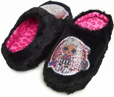 L.O.l. SURPRISE! FUNKY Q.T. Rubber Bottom Slippers NWT Girls Size 11-12 13-1 2-3