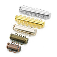 3Pcs Multi Strand Slide Magnetic Tube Clasp/Connectors for Jewelry Making