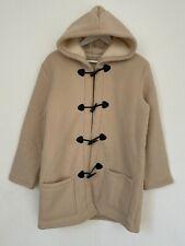 Manteau pour Femme avec capuche taille L de couleur beige veste hiver noel chaud