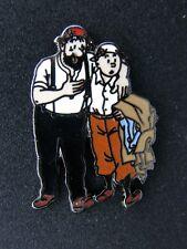 pin's TINTIN & HADDOCK , signé CORNER n°284 - dim : 21x30 , tintin , hergé , bd