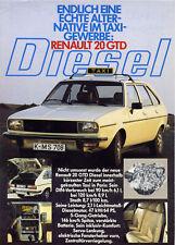 Catalogue prospekt brochure Renault 20 GTD taxi 1981 DE