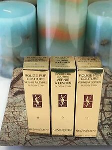 YSL Rouge Pur Couture Vernis A Levres Glossy Stain (You Pick) BNIB 6 ml/.20 oz