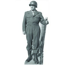 H33140 General Patton Cardboard Cutout Standup