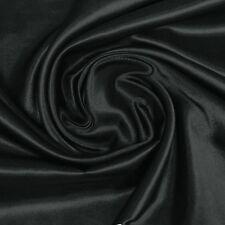 95% silk, 5%spandex stretch silk satin charmeuse fabric 16momme per yard black