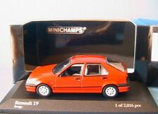 RENAULT 19 1992 RED MINICHAMPS 400113700 1/43 ROUGE ROT R19 ROSSO DIE CAST MODEL