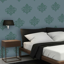 Damask Stencils Yvonne, Reusable stencils for wall decor and fabrics