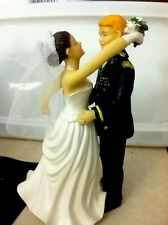 ARMY WEDDING CAKE TOP TOPPER-DANCING COUPLE 2 PIECE- PERSONALIZED, UNIQUE TO YOU