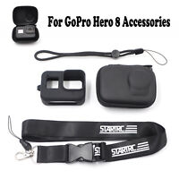 4in1 Storage Bag Protective Case Hand Strap Neck Lanyard For GoPro Hero 8 Camera