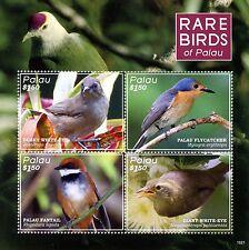 Palau 2016 MNH Rare Birds of Palau 4v M/S Warblers Fantail Flycatcher Stamps