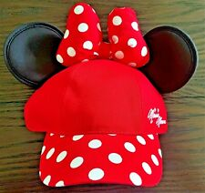 New listing New Disney Parks Minnie Mouse Cap w/ Ears, Bow & Polka Dots – Adjust Youth Size