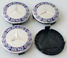 4pcs For Mercedes Benz Wheel Emblem Center Cap Badge Cover 75mm A1714000125 Blue