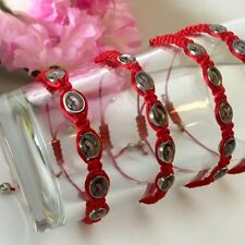 2-Red String Guadalupe Maria Evil Eye Protection Bracelet Pulcera Mal Ojo Rosary