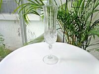Set of 5 Cristal D'Arques Longchamp Clear Crystal Champagne Flutes