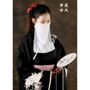 Veil Chinese Women Hanfu Tang Dynasty Fairy Dancing Accessories Cosplay Costume