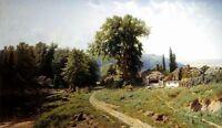 Dream-art Oil painting Kryzhitsky Constantine - Bowery in Little nice landscape