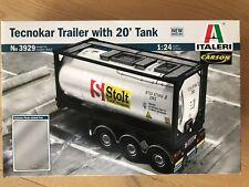 +++ Italeri 1:24 tecnokar tráiler w/20ft Tank 3929