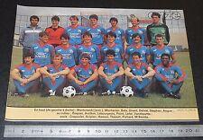 CLIPPING POSTER FOOTBALL 1985-1986 D2 STADE MALHERBE CAEN SMC VENOIX