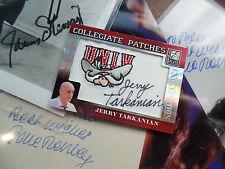 Jerry Tarkanian autograph UNLV Patch Elite Donruss signed auto Runnin Rebels SP