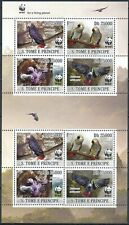 [424] S. Tomé/Principe 2009 Parrots WWF good Sheet very fine MNH