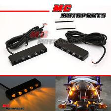 Foot Pegs LED Turn Signal Light Honda CBR600RR CBR1000RR VFR CBR