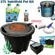NUTRIFIELD PRO POT 27L HYDROPONIC BUBBLE BUCKET FEED RING AQUAPONIC DEEP WATER